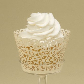 Fancy Cupcake Wrappers (Ivy Vine)