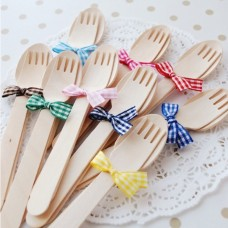 Disposable Wooden Forks (Package of 12)