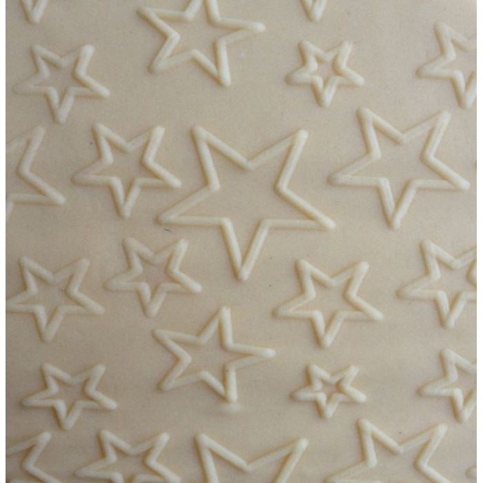 Fondant Impression Rolling Pin Star Texture Small