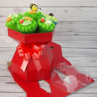 Cupcake Bouquet Box (Red)