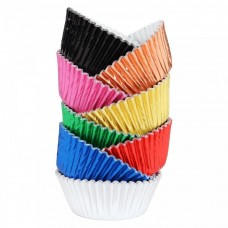 Foil Bake Cups Multi Colour Cupcake Cases x 100