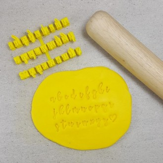 Letter Stamps V2 Script  (Cookies) Lowercase