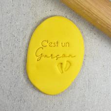 C'est Un Garçon (It's a Boy) Embosser