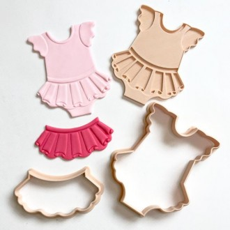 Little Biskut TuTu Onesie Stamp and Cutter Set