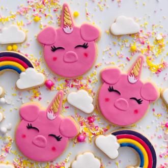 Unicorn Pig 3Dmbosser & Cutter Set