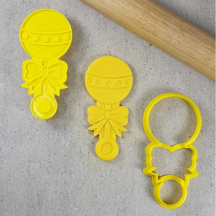 Baby Rattle 3D Embosser & Cutter Set