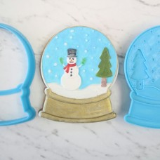 Snowman Snow Globe Cutter and 3D Embosser