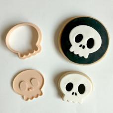 Little Biskut Skull Stamp & Cutter Set