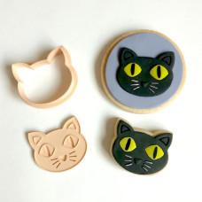 Little Biskut Black Cat Stamp & Cutter Set