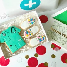 Little Biskut Scrubs Stamp and Cutter Set