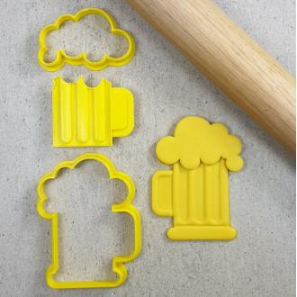 Beer Mug Embosser & 2x Cutters
