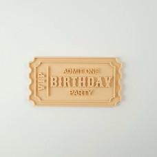 Little Biskut Ticket Cutter & Embosser Set (Birthday)