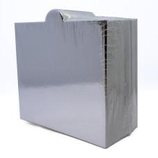 """Mini Cake Board 3.5"""" Square Silver Foil with Handle"""