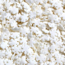 White Pearlized Snowflake Edible Confetti 1.6 OZ