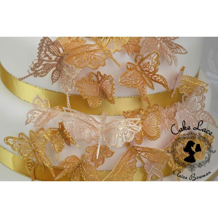 Cake Lace Mat Butterflies