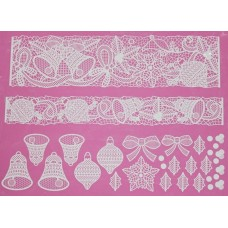 Cake Lace Mat Bells And Bows