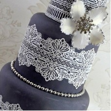 Cake Lace Pearlized White 200g