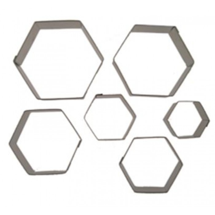 Hexagon Cookie Cutter Set (Set of 6)