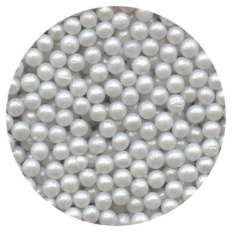 Sugar Pearls 3mm Pearlized White