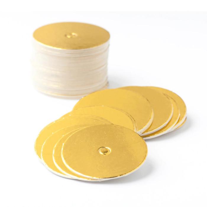 Mini Cake Board for Cakepops Circle  Foil Gold (50pcs)