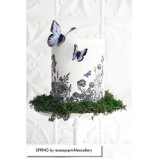 Mesh Cake Stencil - Spring Caking it Up