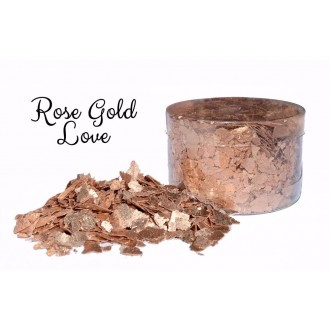 Edible Flakes Rose Gold Love
