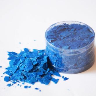 Edible Flakes Vivid Blue