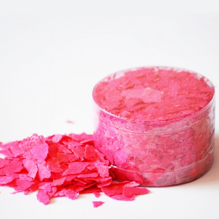 Edible Flakes Vivid Pink