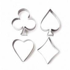 Playing Card Suits Cutters (4 cutters)
