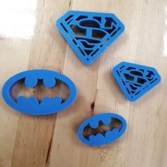 Superman and batman Cutters