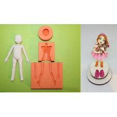 Sweet Revolutions by Domy Set of 3 molds for Figurines - Kid