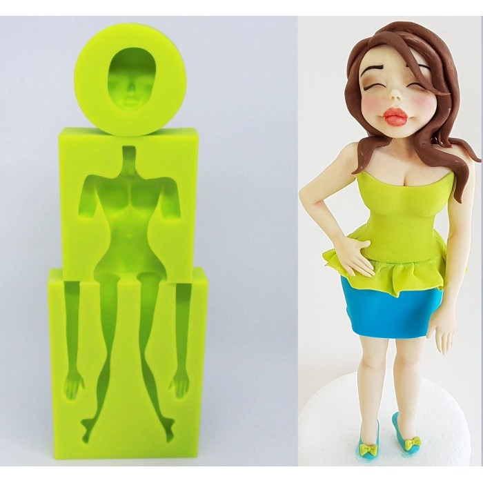 Sweet Revolutions by Domy Set of 3 molds for Figurines - Woman