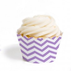 Lavender Chevron Cupcake Wrappers (12)
