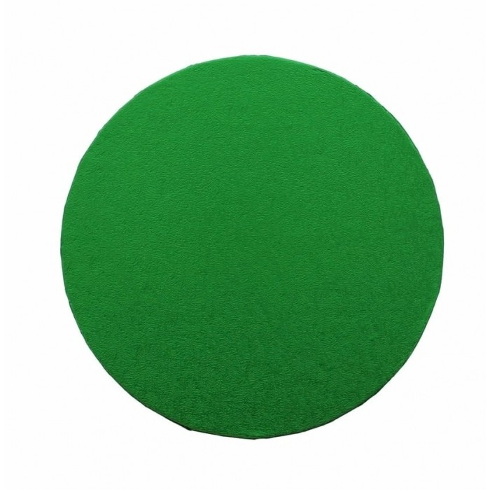 """Cake Drum Round Green Foil, 12"""" x 1/2 Inches"""