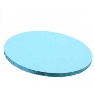"Cake Drum Round Baby Blue Foil, 12"" x 1/2 Inches"