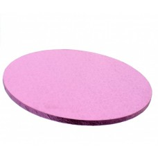 """Cake Drum Round Baby Pink Foil, 10"""" x 1/2 Inches"""