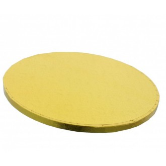 "Cake Drum Round Gold Foil, 12"" x 1/2 Inches"