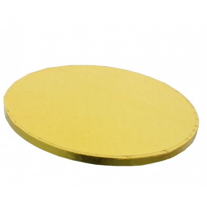 "Cake Drum Round Gold Foil, 8"" x 1/2 Inches"