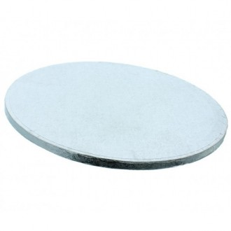 "Cake Drum Round Silver Foil, 12"" x 1/2 Inches"