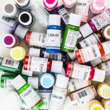 Edible Art Decorative Paint 15ml - 58 COLORS (including the Metallics)