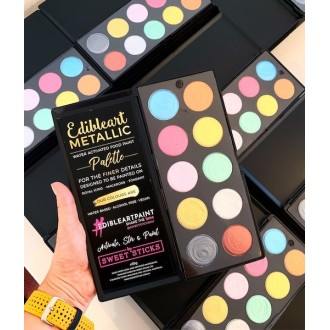 Edible Art Metallic Color Palette **VEGAN, WATER-BASED, ALCOHOL FREE