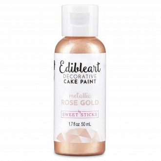 Edible Art Decorative Paint 50ml - Metallic Rose Gold