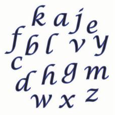 FMM Tappit Alphabet Script Lowercase 1.5cm