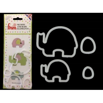 FMM Mummy and Baby Elephant Cutter (Set of 2)