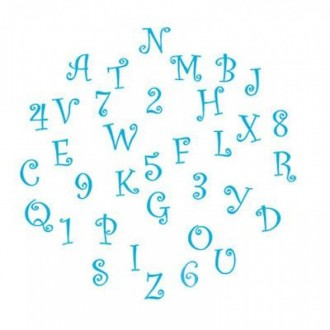 FMM Tappit Capital Funky Letters & Numbers 4cm
