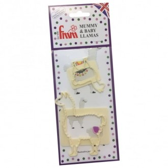 FMM Mummy and Baby Llama Cutter (Set of 2)