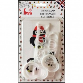 FMM Mummy and baby Penguin Cutter set