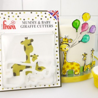 FMM Mummy and Baby Giraffe Cutter (Set of 2)