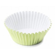 Foil Bake Cups Light Green (Quantity 32)