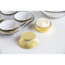 Foil Bake Cups Light Gold (Quantity 32)